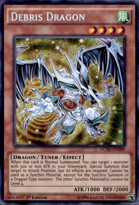 YuGiOh 5D's Legendary Collection Mega Pack Secret Rare Debris Dragon LC5D-EN009