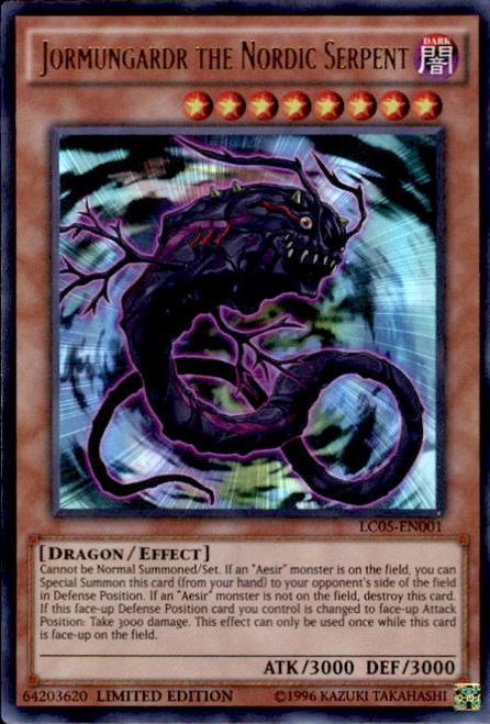 YuGiOh 5D's Legendary Collection 5 Ultra Rare Jormungardr the Nordic Serpent LC05-EN001