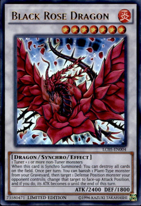 YuGiOh 5D's Legendary Collection 5 Ultra Rare Black Rose Dragon LC05-EN004