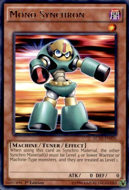 YuGiOh YuGiOh 5D's Legendary Collection Mega Pack Rare Mono Synchron LC5D-EN026