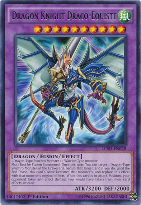 YuGiOh YuGiOh 5D's Legendary Collection Mega Pack Rare Dragon Knight Draco-Equiste LC5D-EN028