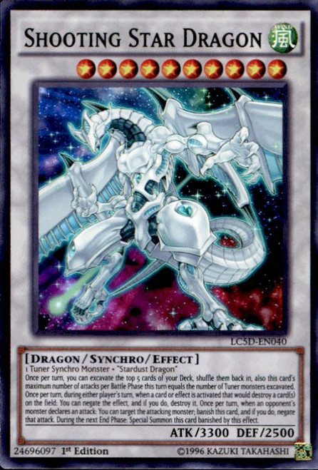 YuGiOh YuGiOh 5D's Legendary Collection Mega Pack Super Rare Shooting Star Dragon LC5D-EN040