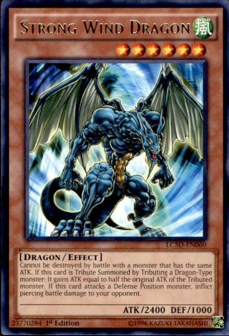 YuGiOh YuGiOh 5D's Legendary Collection Mega Pack Rare Strong Wind Dragon LC5D-EN060