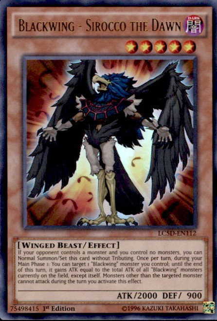 YuGiOh YuGiOh 5D's Legendary Collection Mega Pack Ultra Rare Blackwing - Sirocco the Dawn LC5D-EN112