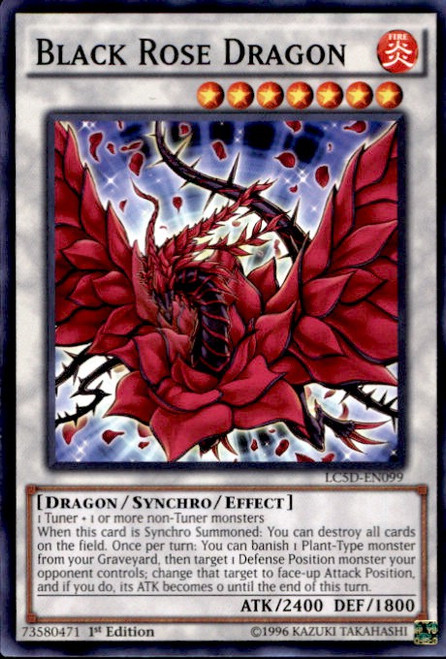 YuGiOh YuGiOh 5D's Legendary Collection Mega Pack Common Black Rose Dragon LC5D-EN099