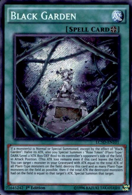 YuGiOh 5D's Legendary Collection Mega Pack Secret Rare Black Garden LC5D-EN101