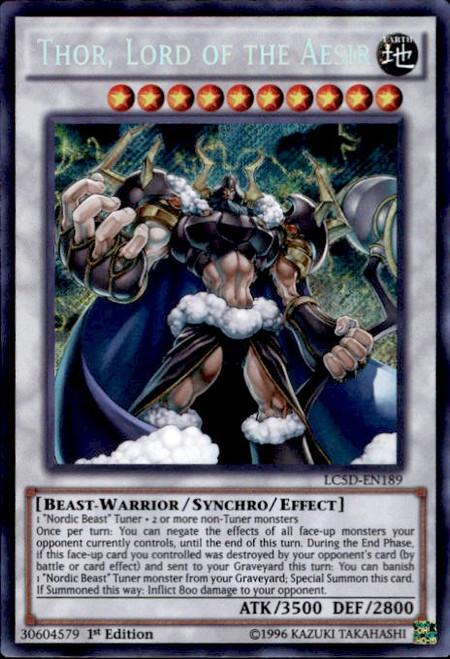 YuGiOh YuGiOh 5D's Legendary Collection Mega Pack Secret Rare Thor, Lord of the Aesir LC5D-EN189
