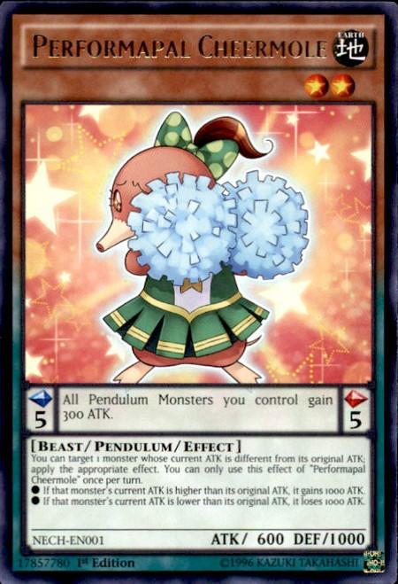 YuGiOh The New Challengers Rare Performapal Cheermole NECH-EN001