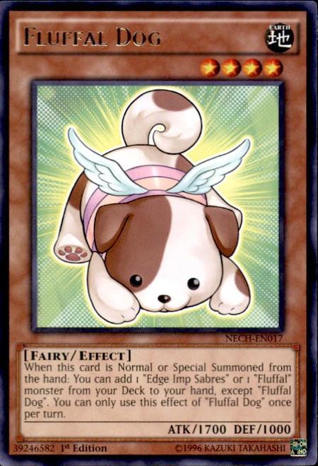 YuGiOh The New Challengers Rare Fluffal Dog NECH-EN017