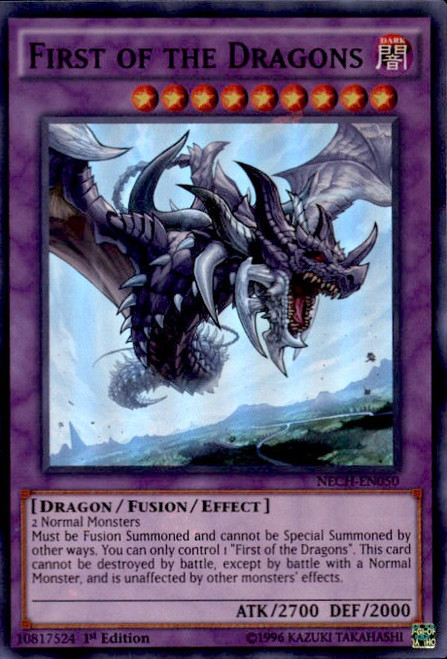 YuGiOh The New Challengers Super Rare First of the Dragons NECH-EN050