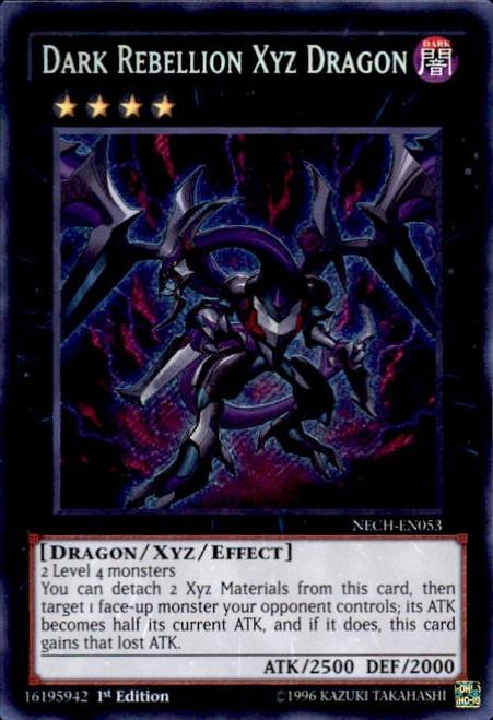 YuGiOh The New Challengers Secret Rare Dark Rebellion Xyz Dragon NECH-EN053
