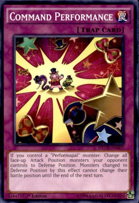 YuGiOh The New Challengers Common Command Performance NECH-EN069