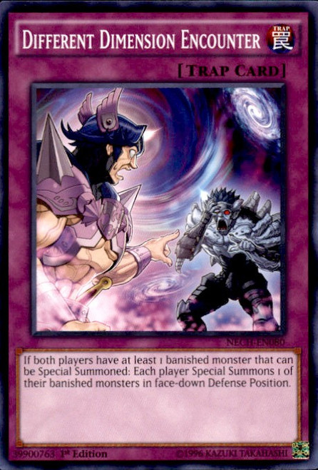 YuGiOh The New Challengers Common Different Dimension Encounter NECH-EN080