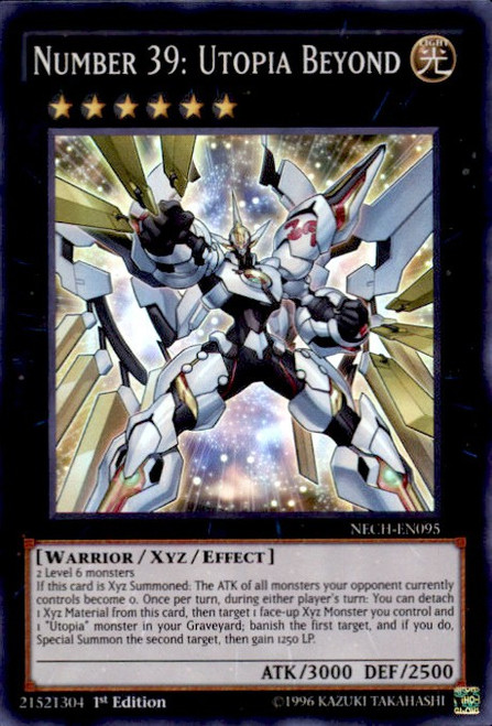 NECH-EN099 1st M//NM Yugioh Number 99: Utopic Dragon Secret Rare