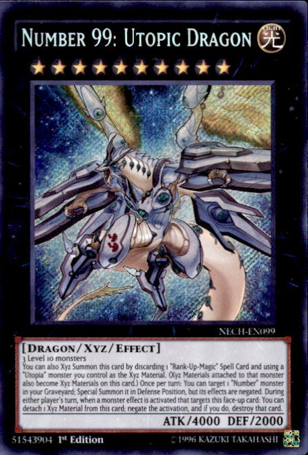 YuGiOh The New Challengers Secret Rare Number 99: Utopic Dragon NECH-EN099
