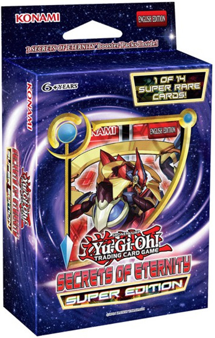 YuGiOh Trading Card Game Secrets of Eternity Super Edition Pack [3 Booster Packs & Promo Card]