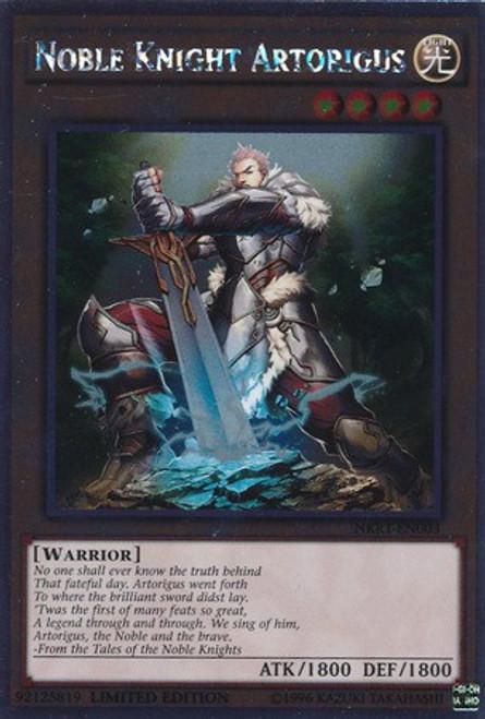 YuGiOh Noble Knights of the Round Table Platinum Rare Noble Knight Artorigus NKRT-EN003
