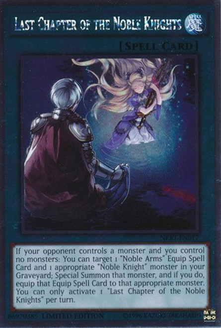 YuGiOh Noble Knights of the Round Table Platinum Rare Last Chapter of the Noble Knights NKRT-EN017
