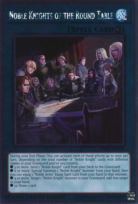 YuGiOh Platinum Rare Noble Knights of the Round Table NKRT-EN018