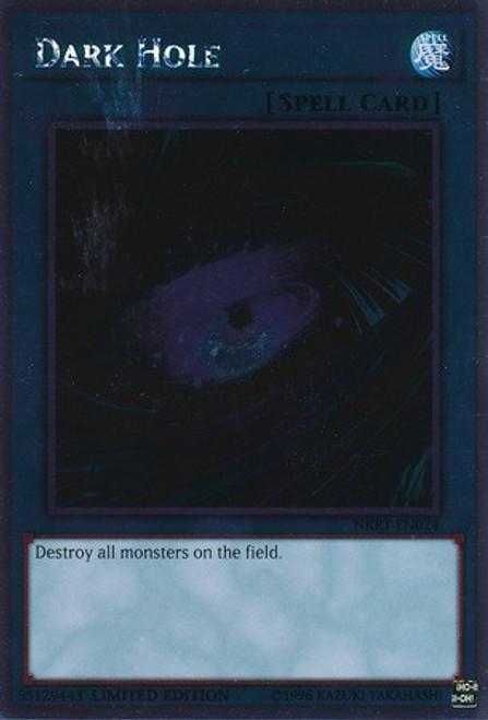 YuGiOh Noble Knights of the Round Table Platinum Rare Dark Hole NKRT-EN024