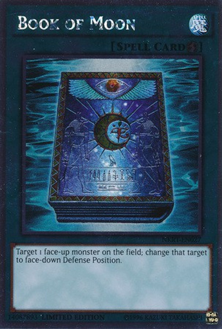 YuGiOh Noble Knights of the Round Table Platinum Rare Book of Moon NKRT-EN027