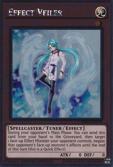YuGiOh Noble Knights of the Round Table Platinum Rare Effect Veiler NKRT-EN039