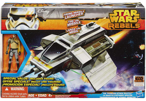 Star Wars Rebels Class II Attack Vehicle The Phantom Attack Shuttle Exclusive Action Figure Vehicle [With Kanan Jarrus]