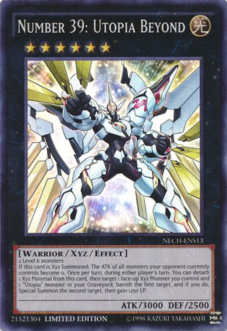 YuGiOh The New Challengers Super Rare Number 39: Utopia Beyond NECH-ENS13