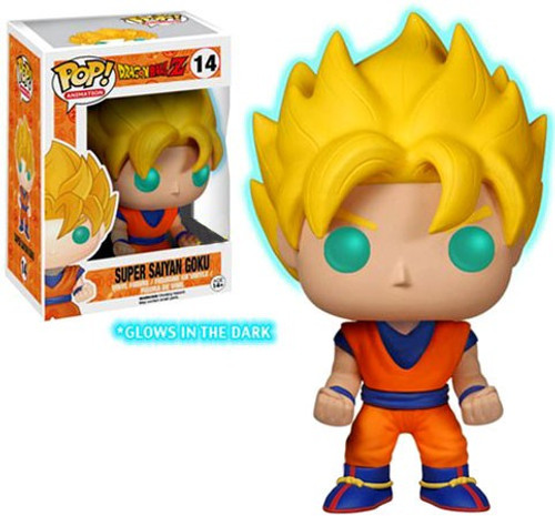 Funko Dragon Ball Z POP! Animation Super Saiyan Goku Exclusive Vinyl Figure #14 [Glow-in-the-Dark]