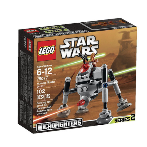 LEGO Star Wars Attack of the Clones Microfighters Series 2 Homing Spider Droid Set #75077