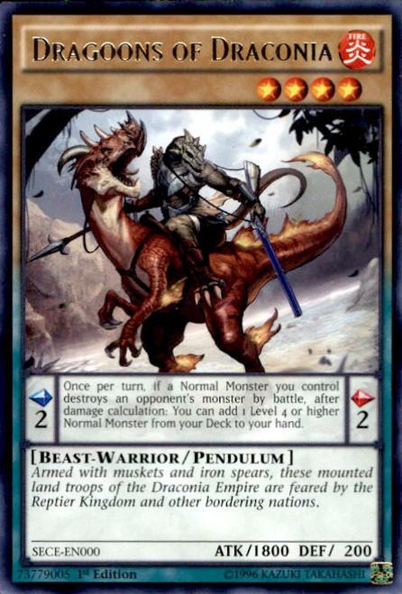 YuGiOh Secrets of Eternity Rare Dragoons of Draconia SECE-EN000