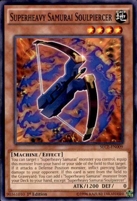 YuGiOh Secrets of Eternity Common Superheavy Samurai Soulpiercer SECE-EN009