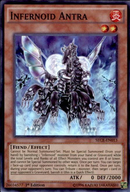 YuGiOh Secrets of Eternity Super Rare Infernoid Antra SECE-EN013