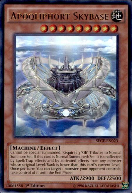 YuGiOh Secrets of Eternity Ultra Rare Apoqliphort Skybase SECE-EN023