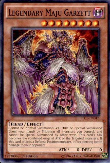 YuGiOh Secrets of Eternity Common Legendary Maju Garzett SECE-EN042
