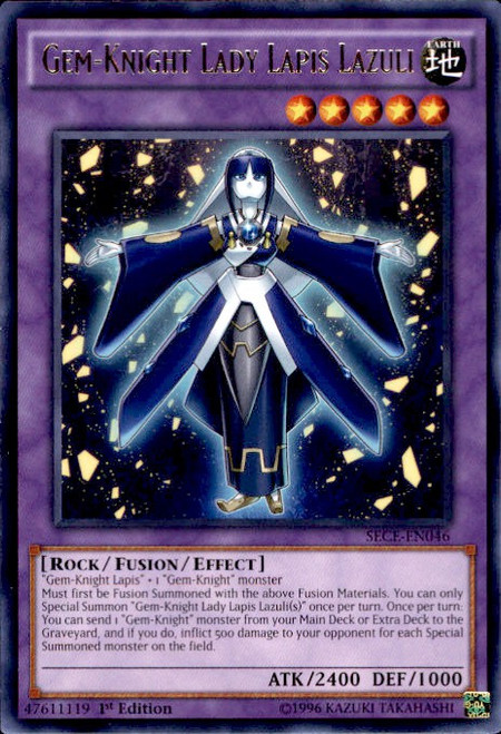 YuGiOh Secrets of Eternity Rare Gem-Knight Lady Lapis Lazuli SECE-EN046