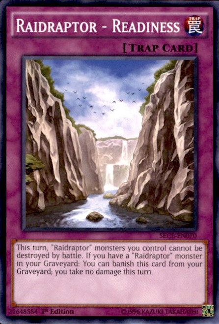 YuGiOh Secrets of Eternity Common Raidraptor - Readiness SECE-EN070