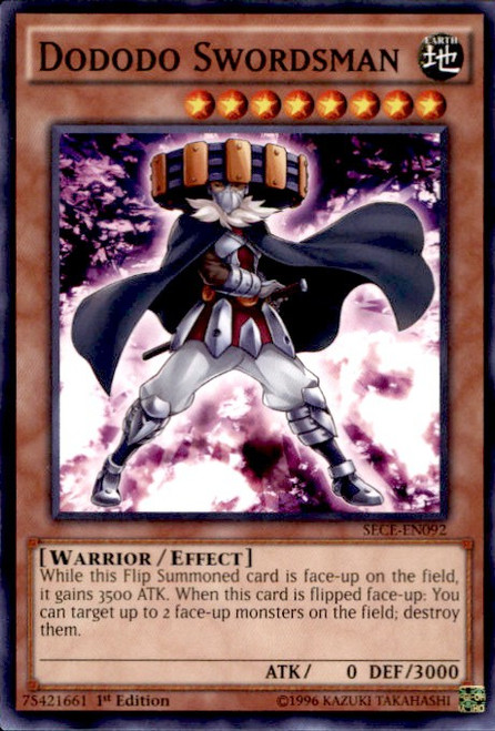 YuGiOh Secrets of Eternity Common Dododo Swordsman SECE-EN092