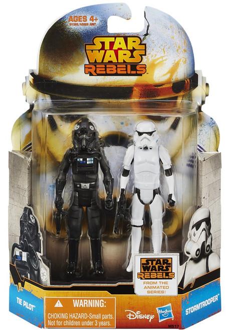 Star Wars Rebels Mission Series Stormtrooper & TIE Pilot Action Figure 2-Pack MS17