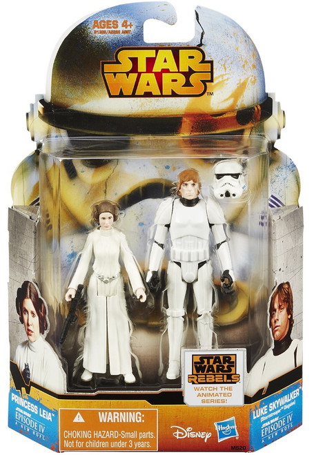 Star Wars A New Hope Mission Series Luke Skywalker & Princess Leia Action Figure 2-Pack MS20 [Stormtrooper Disguise]