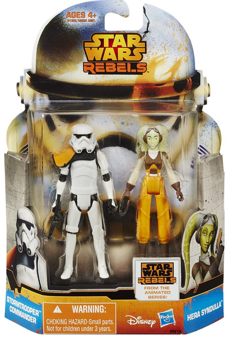 Star Wars Rebels Mission Series Hera Syndulla & Stormtrooper Commander Action Figure 2-Pack MS19