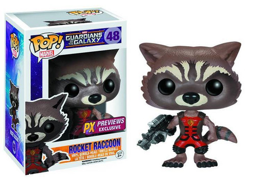 Funko Guardians of the Galaxy POP! Marvel Rocket Raccoon Exclusive Vinyl Bobble Head #48 [Ravagers Uniform]