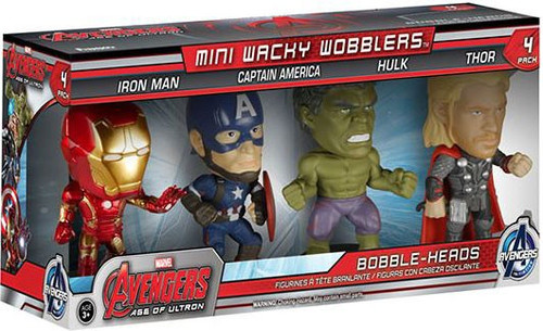 Funko Marvel Mini Wacky Wobblers Avengers Age of Ultron Bobble Head Set