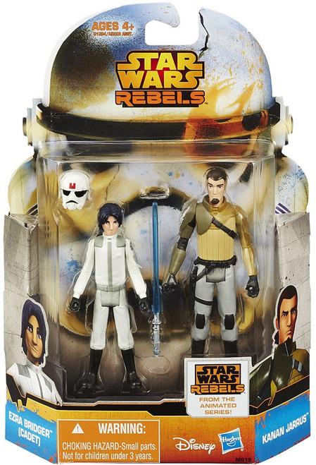 Star Wars Rebels Mission Series Ezra Bridger (Cadet) & Kanan Jarrus Action Figure 2-Pack MS18