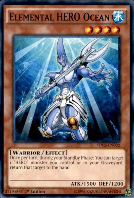 YuGiOh HERO Strike Structure Deck Common Elemental HERO Ocean SDHS-EN002