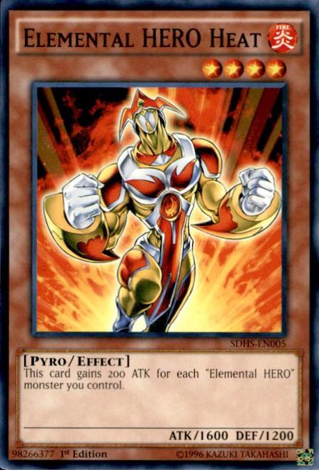 YuGiOh HERO Strike Structure Deck Common Elemental HERO Heat SDHS-EN005