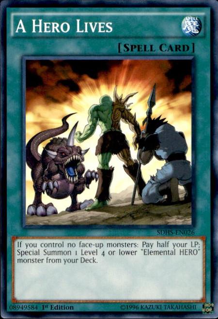 YuGiOh HERO Strike Structure Deck Common A Hero Lives SDHS-EN026
