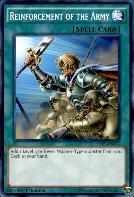 YuGiOh HERO Strike Structure Deck Common Reinforcement of the Army SDHS-EN032
