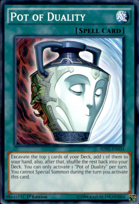 YuGiOh HERO Strike Structure Deck Common Pot of Duality SDHS-EN034