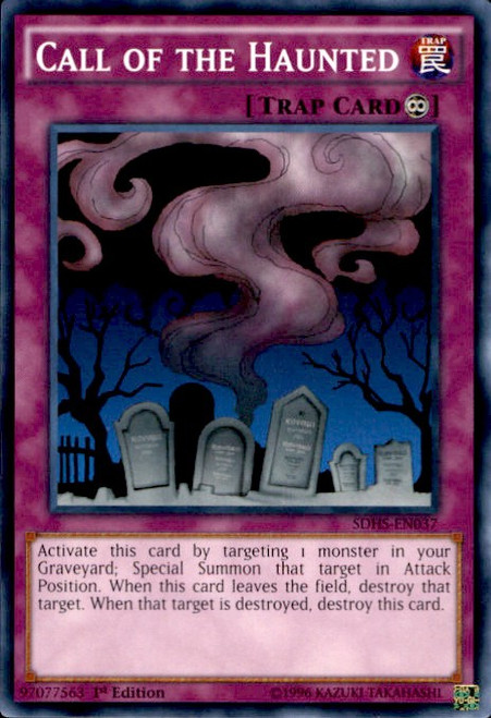 YuGiOh HERO Strike Structure Deck Common Call of the Haunted SDHS-EN037
